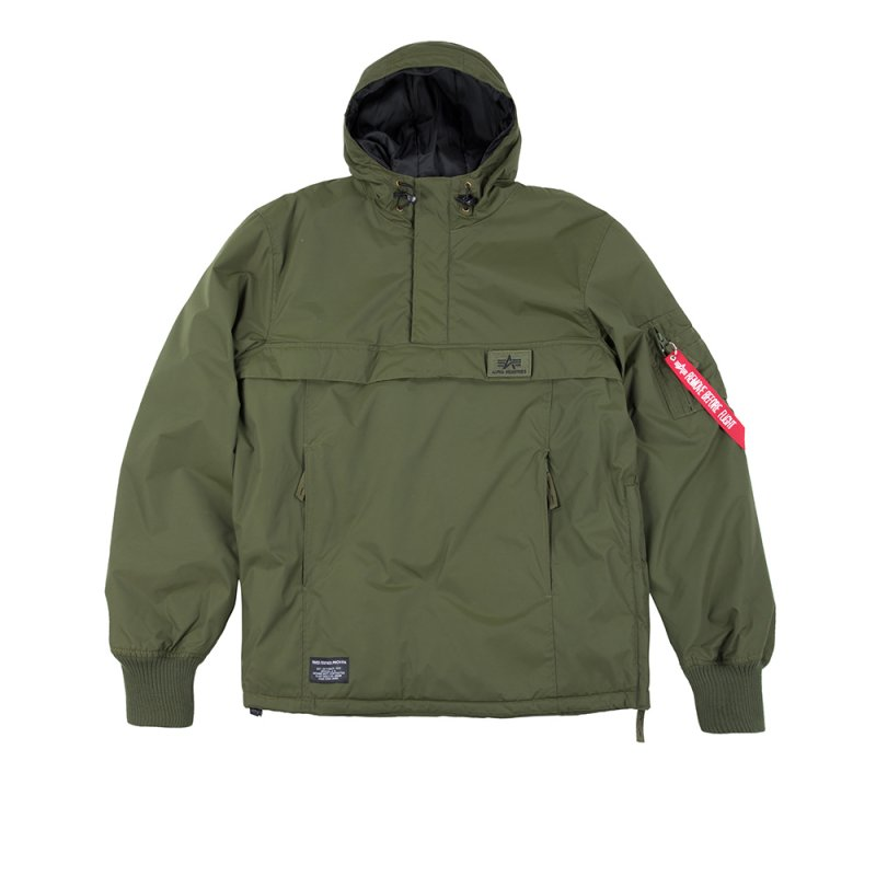 Anorak Industries Alpha Dark Wp Green Windbreaker wk8PX0nO