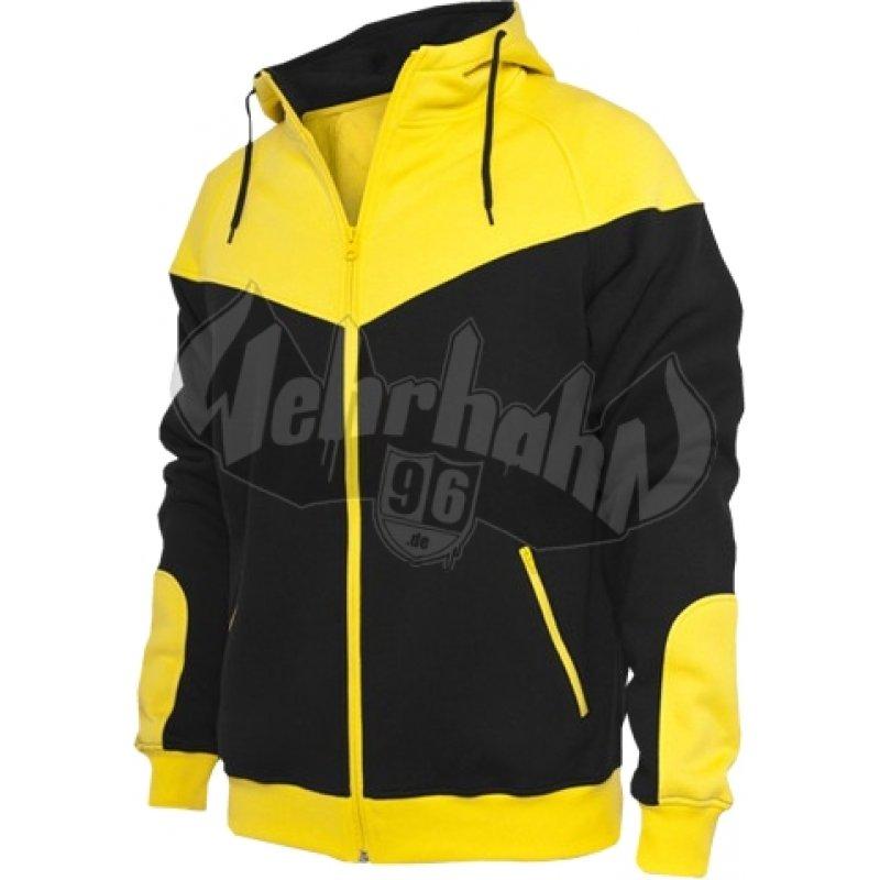Urban Classics - Arrow Sweat Zip Hoodie schwarz gelb, 44,91 € 6d94d1e24c
