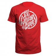 f9354cc89d1 187 Strassenbande Logo T-Shirt rot weiß
