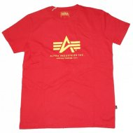 Alpha Industries - Basic Logo Shirt speed red
