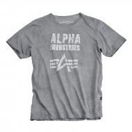 Alpha Industries - Crack Print T-Shirt greyblack