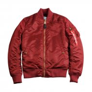 Alpha Industries Damen Bomberjacke MA-1 VF PM Wmn burgundy