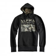 Alpha Industries Hoodie Camouflage Print Black