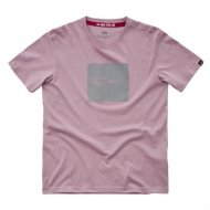 Alpha Industries Label T-Shirt silver pink