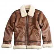 Alpha Industries Lederjacke B3 FL Brown