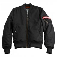 Alpha Industries - MA-1 Wool Bomberjacke schwarz
