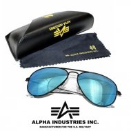Alpha Industries Top Gun Sonnenbrille black/blue