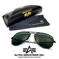 Alpha Industries Top Gun Sonnenbrille black/green
