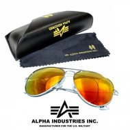 Alpha Industries Top Gun Sonnenbrille silver/gold