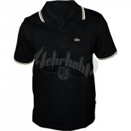 Alpha Industries Twin Stripe Polo black/yellow