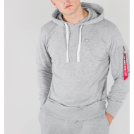 Alpha Industries - X-Fit Basic Hoodie grau