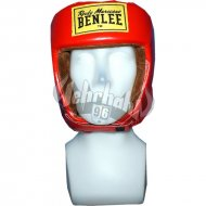 Benlee Rocky Marciano Leather Headguard OPEN FACE red