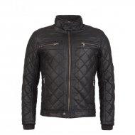 Bikerjacke Padded Diamond Black