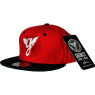 Grimey Old School Snapback Red
