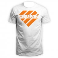 Kurdo T-Shirt Almaz Logo (weiss/orange)