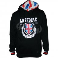 Lonsdale - Slim Fit Hooded Sweater History Leaves schwarz