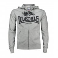 Lonsdale Slim Fit Zip Hoody Krafty marl grey
