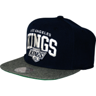 Los Angeles Kings Snapback Flannel navy / grey | NHL |...