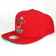 Miami Heat Snapback Wool Solid | NBA | Mitchell & Ness