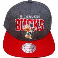 Milwaukee Bucks Snapback Jersi Logo grau/rot | NBA |...
