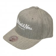 Mitchell & Ness Pinscript 110 Curved Snapback grey...