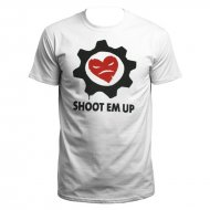 Orgiwear B�ses Herz SHOOT EM UP T-Shirt (weiss)