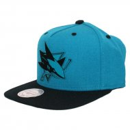 San Jose Sharks Team Sonic Snapback | NHL | Mitchell...