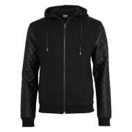 Urban Classics - Diamond Leather Imitation Sleeve Zip...