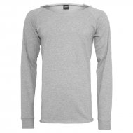 Urban Classics - Long Open Edge Terry Crewneck grau