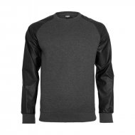Urban Classics - Raglan Leather Imitation Crewneck...