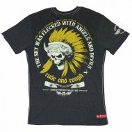 Yakuza Premium T-Shirt 2102 Flecked with angels schwarz