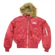 Alpha Industries - 45P Hooded Custom Jacke commander red