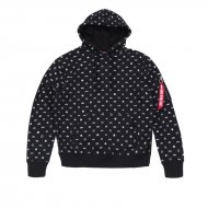 Alpha Industries All Over Hoodie schwarz
