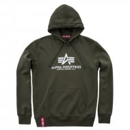 Alpha Industries Basic Hoodie dark green