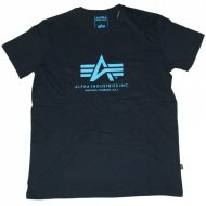 Alpha Industries - Basic Logo Shirt black/blue