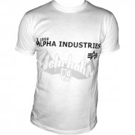 Alpha Industries Basic Shirt Print 14 weiss