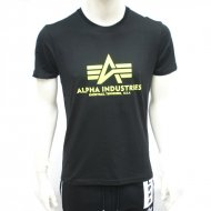 Alpha Industries Basic T-Shirt black/neon yellow
