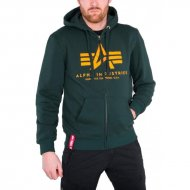 Alpha Industries Basic Zip Hoodie dark petrol