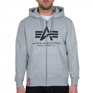 Alpha Industries Basic Zip Hoodie grey heather