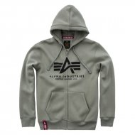 Alpha Industries Basic Zip Hoodie olive