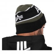 Alpha Industries Block Beanie dark green