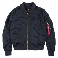 Alpha Industries Bomberjacke CWU LW PM rep. blue