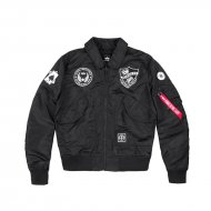 Alpha Industries Bomberjacke CWU VF LW Patch black