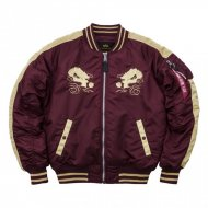 Alpha Industries Bomberjacke Japan Dragon burgundy