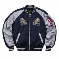 Alpha Industries Bomberjacke Japan Dragon rep. blue