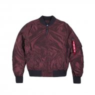 Alpha Industries Bomberjacke MA-1 LW Iridium burgundy