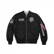 Alpha Industries Bomberjacke MA-1 Moon Landing Rev black
