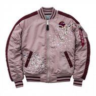 Alpha Industries Bomberjacke MA-1 VF FLOWERPRINT WMN...