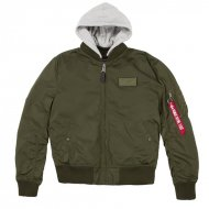 Alpha Industries Bomberjacke MA-1 TT Hood dark green
