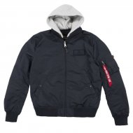 Alpha Industries Bomberjacke MA-1 TT Hood rep.blue